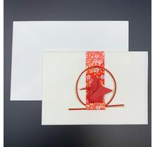 HYOGENSHA 27-325-250 MIZUBIKI GREETING CARD RED