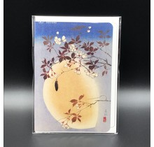 GREETING CARD BLOSSOMS AND MOON