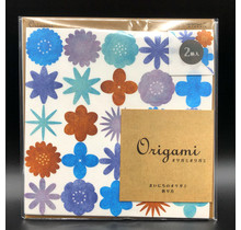ORIGAMI WATERCOLOR FLOWER BLUE
