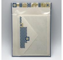 NIHONBASHI IBASEN EDOOSA LETTER SET SPRING/ICHIMATSU MUSTARD&BLUE
