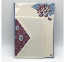 NIHONBASHI IBASEN - LETTER SET KIKU PURPLE&BLUE