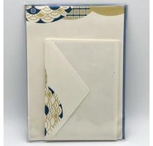NIHONBASHI IBASEN - LETTER SET NAMI YELLOW&BLUE