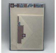 NIHONBASHI IBASEN - LETTER SET ICHIMATSU PURPLE&BLUE