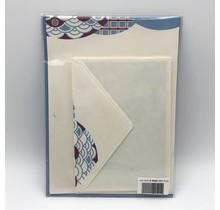 NIHONBASHI IBASEN - LETTER SET NAMI PURPLE&BLUE