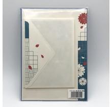 NIHONBASHI IBASEN - LETTER SET SPRING SAKURA RED&BLUE