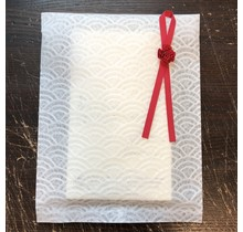 JPT  JAPANESE WASHI PAPER WRAPPING BAG WHITE (S)