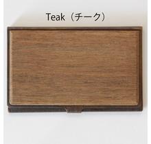 picus - BRASS & WOOD CARDCASE RUST +BOX TEAK