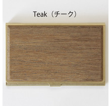 picus - BRASS & WOOD CARDCASE SOLID +BOX TEAK