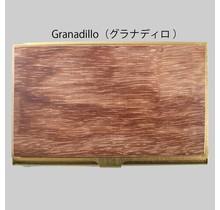picus - BRASS & WOOD CARDCASE SOLID +BOX GRANADILLO