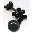 Glas ogen op draad - zwarte kogels