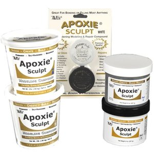 Apoxie sculpt component A + B - color pink