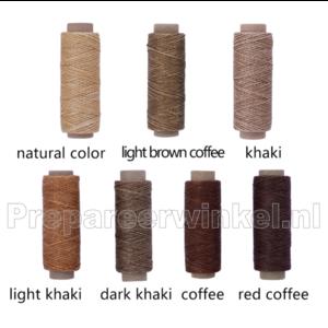Wax hechtgaren, klos 50 m, diverse kleuren