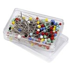 Glasshead pins