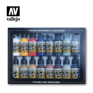 Model Air airbrush paint - Starter set 16 basic colors (71.178)