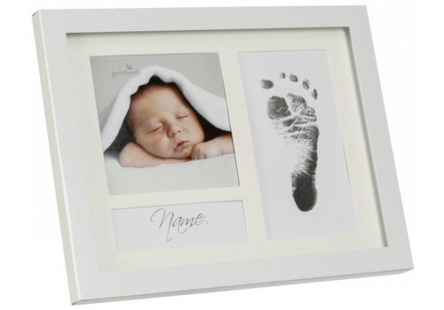 3D Hand Design® First Steps Voetafdruk metalen frame met Magic Footprint Speciale Set