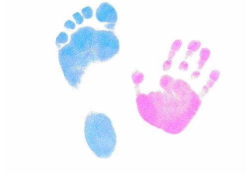 Dactek Farvet Dactek fod og håndtryk sæt