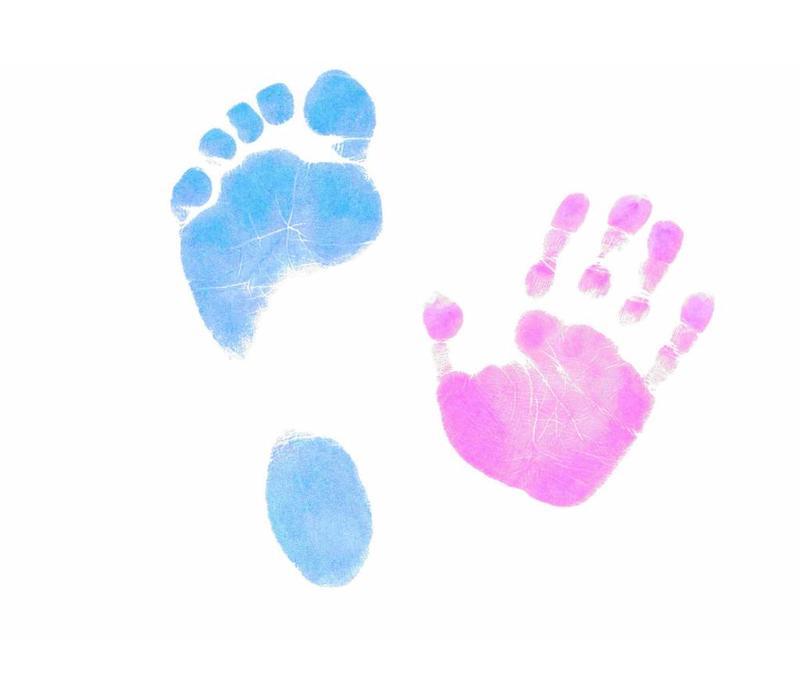 Kit de pie y huella de mano Dactek en color