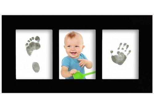 3D Hand Design® Marco de galería para bebé con juego de impresión Magic Footprints