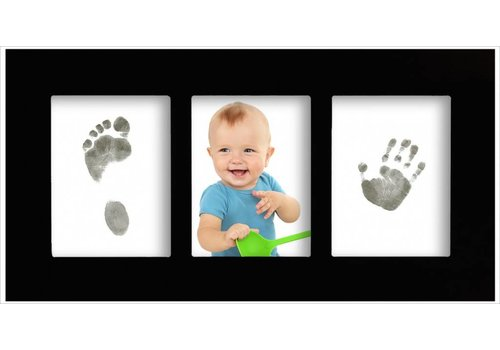 3D Hand Design® Telaio Baby gallery con set di impronte Magic Footprints