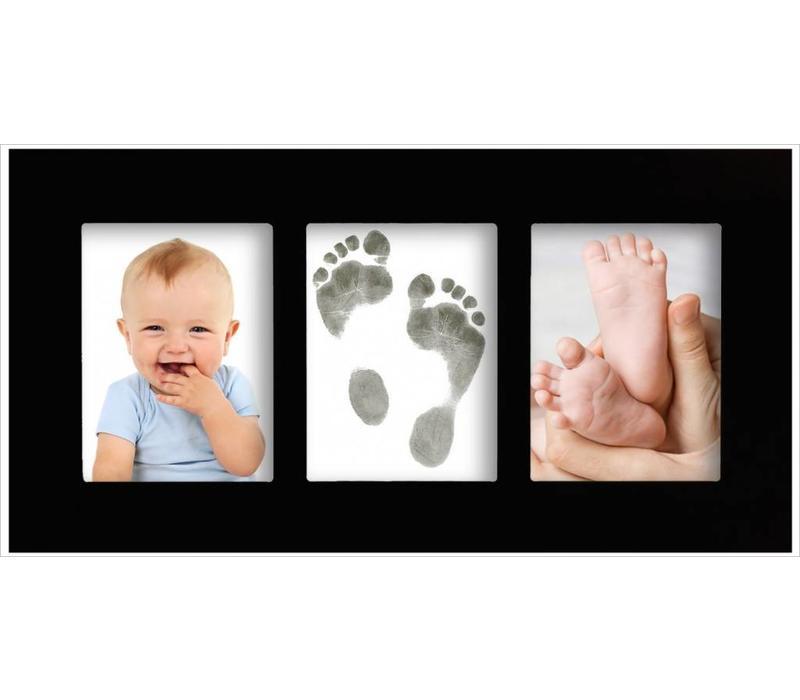 Marco de galería para bebé con juego de impresión Magic Footprints