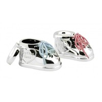 Tanden- en haarlokdoosje Schoen met twee kleuren veters