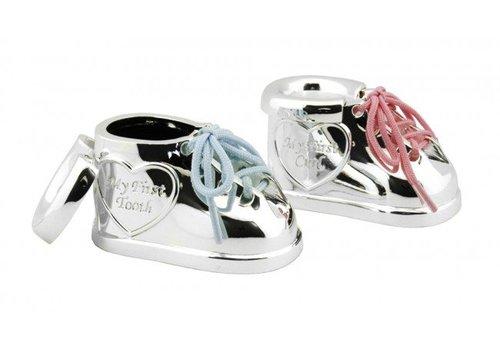 Zilverstad Boîte pour dent de lait et mèche de cheveux, Chaussure à lacets bicolores