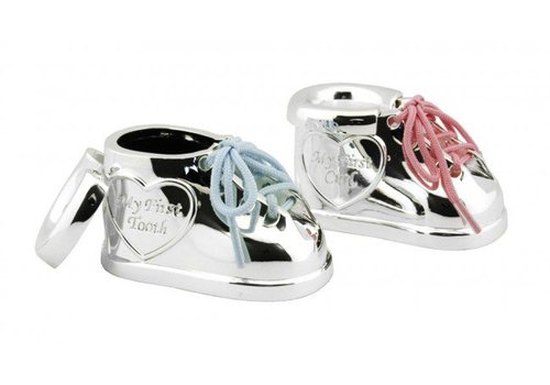 Zilverstad First tooth and first curl box Shoe with laces in two colours