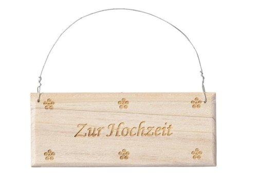 """CREApop® Holz-Schild """"Zur Hochzeit"""""""