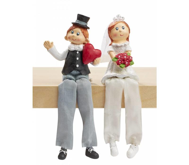 Hochzeitspaar II Kantenhocker
