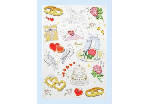 CREApop® Stickers Bruiloft I