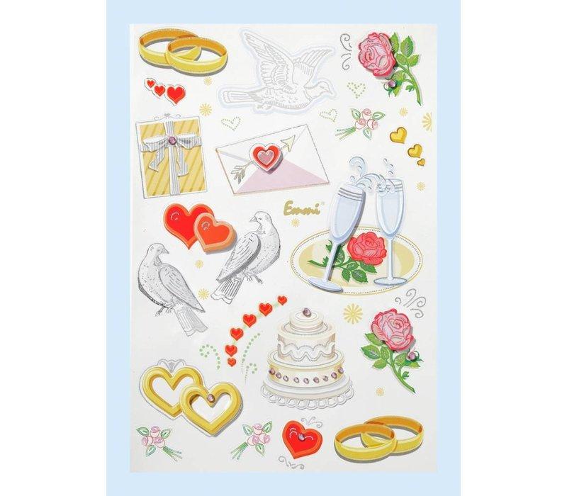 Sticker Hochzeit I