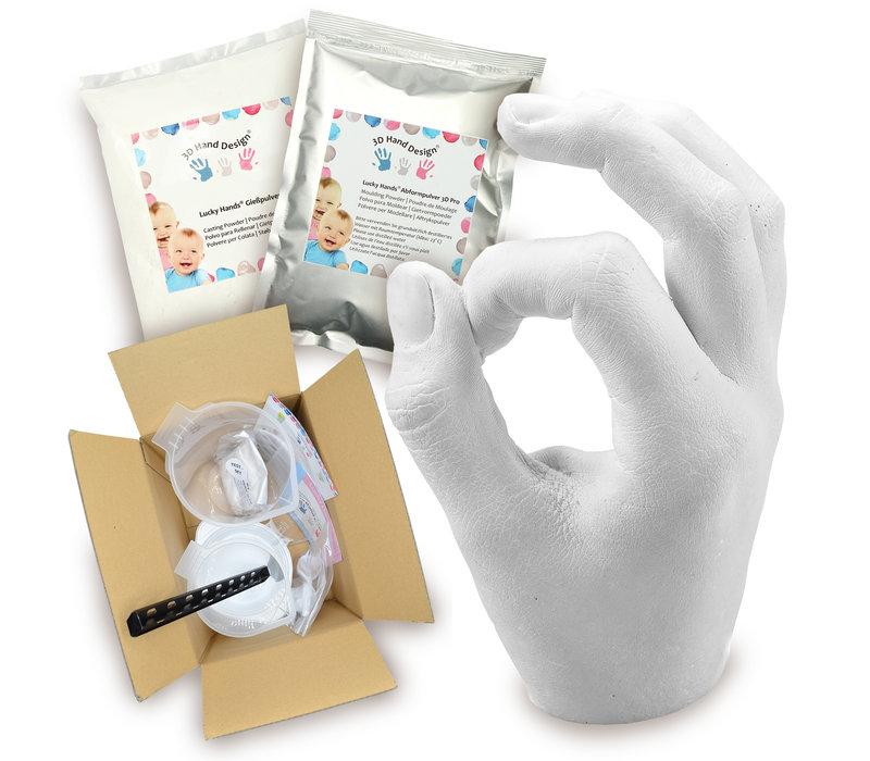 Lucky Hands® Gips afdruk sets voor kinderen, tieners en volwassenen