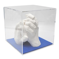 "Lucky Hands® Abformsets ""Family Hands"" TRIO mit Acrylglaswürfel"
