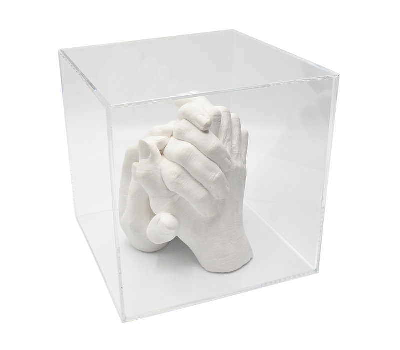 """Lucky Hands® Casting Kit """"Family"""" TRIO with Acrylic Glass Cube"""