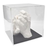 "Lucky Hands® Afdrukset ""Family"" TRIO met acrylglasblokje"