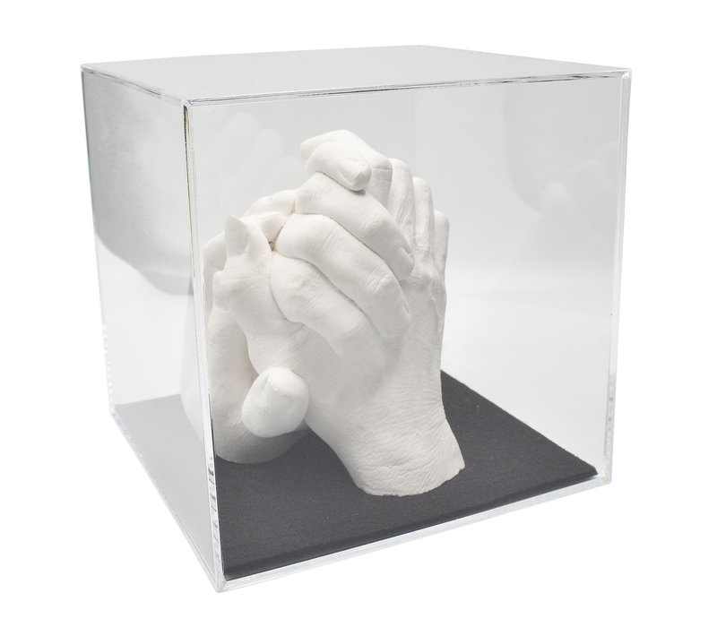 Lucky Hands® Kits de moulage « pour Famille » TRIO avec Cube Acrylique