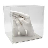 "Lucky Hands® Afdrukset ""Family"" TRIO+ met acrylglasblokje"