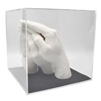 "Lucky Hands® Abformsets ""Family Hands"" TRIO+ mit Acrylglaswürfel"