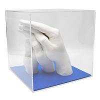 """Lucky Hands® Kit per impronte """"Famiglia"""" TRIO+ con Cubo di Acrilico"""