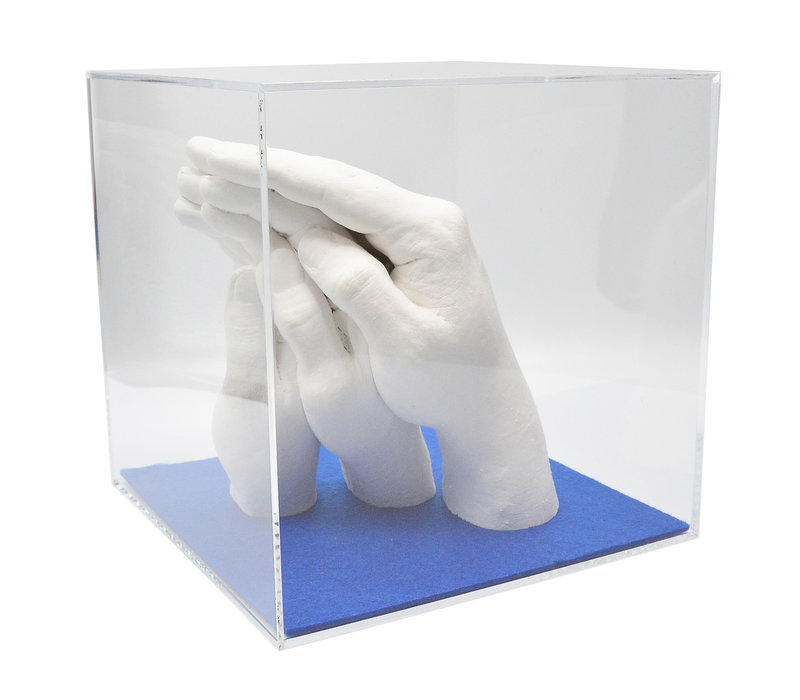 """Lucky Hands® Afformningssæt """"familie"""" TRIO+ med Akrylglasskab"""