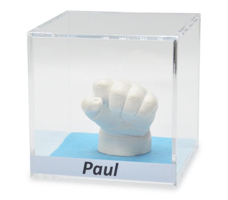Lucky Hands® Cube en verre acrylique avec inscription