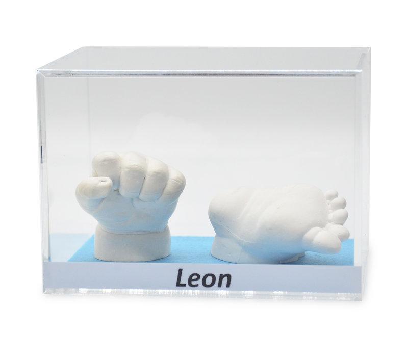 Lucky Hands® Acrylglasvitrinen mit Beschriftung