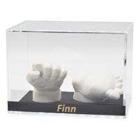 Lucky Hands® Vitrine en verre acrylique avec inscription