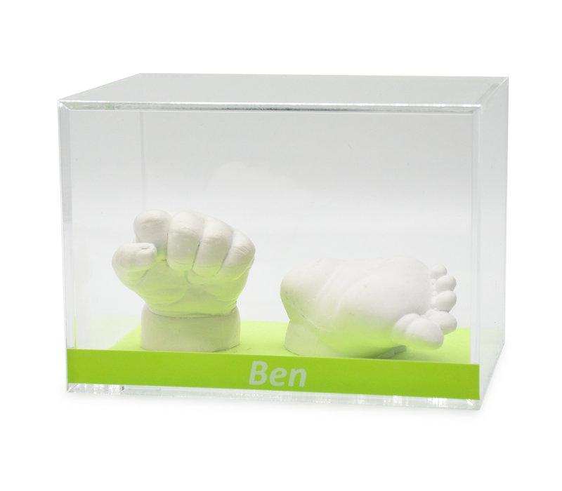 Lucky Hands® Vetrine in vetro acrilico con iscrizione