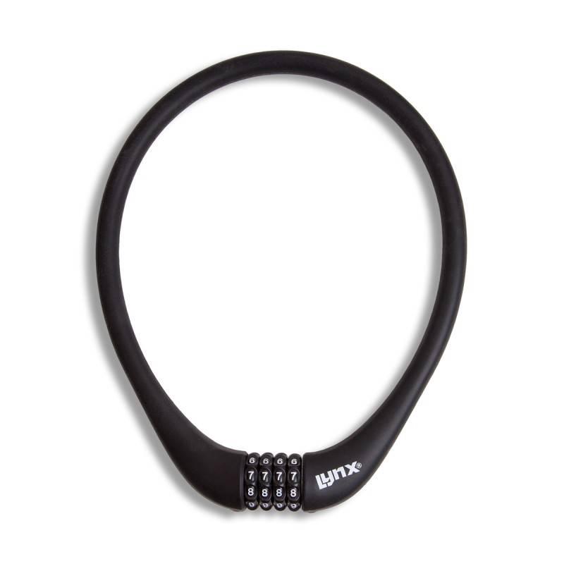 Siliconen Combinatie Kabelslot 70 CM Zwart