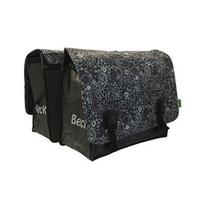 Beck Dubbele fietstas 65L Big Blackish Pattern