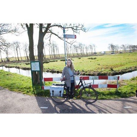 Beck Dubbele fietstas 65L Big Zilver