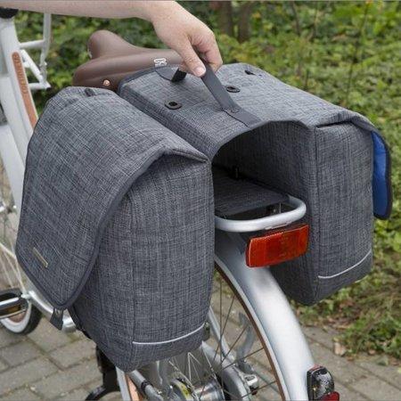 New Looxs Dubbele fietstas Avero Double Afneembaar 25L Zwart