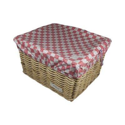 Hooodie Box L Pink Checker voor fietsmand of fietskrat