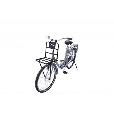 Steco Transport Comfort voordrager voor fietsen volwassenen - matzwart